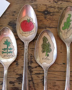 Vintage Spoon Garden Markers