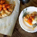 apricot-thyme galette with almond whipped cream