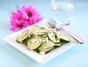 cucumbers and feta