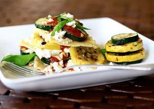 no bake grilled vegetable lasagna with feta