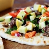 Flatbread Pizza with Sausage + Zucchini