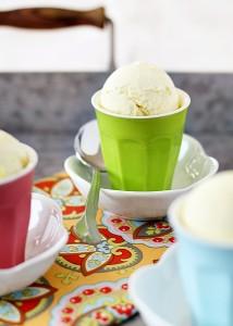 homemade lemon ice cream