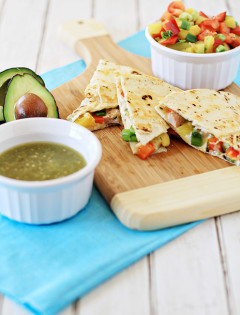 pork and pineapple quesadillas