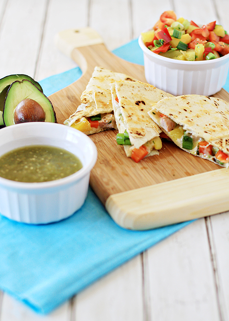 Pork and Pineapple Quesadillas | Good Life Eats