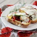 Roasted Vegetable Sandwich on Rustic Bread