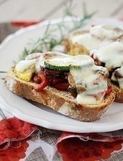 Roasted Vegetable Sandwich on Rustic Bread