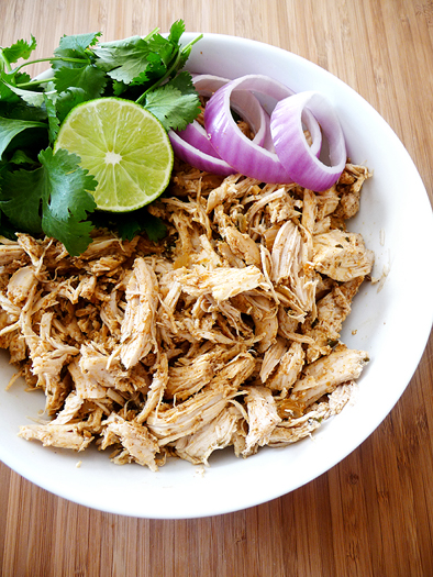 Shredded Crock Pot Mexican Chicken
