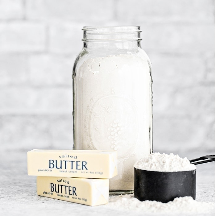 4 different ways to cut butter into flour for recipes like pie crusts or biscuits. The 4th way on this list is my all time favorite kitchen tips is this trick forcutting butter into flour!