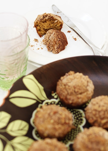 Maple Pumpkin Muffins with Streusel