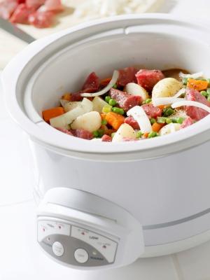 Making Beef Stew in Crock Pot