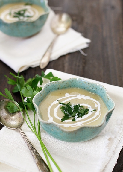 julia child potato leek soup