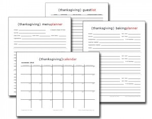 free thanksgiving planning ebook