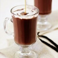 Vanilla Fleur de Sel Caramel Hot Chocolate