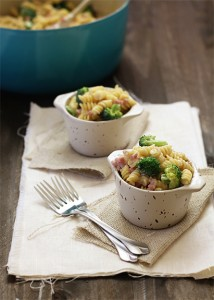 cheesy broccoli ham and rotini
