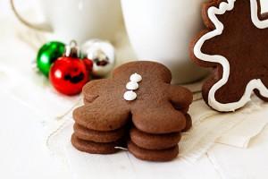 chocolate citrus gingerbread cookies