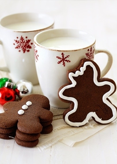 For a fun, unique twist on gingerbread cut out cookies, try these Chocolate Gingerbread Cookies!