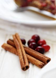 cinnamon sticks and fresh cranberries
