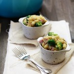cheesy rotini with ham and broccoli