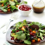 butternut squash, pomegranate and roquefort salad