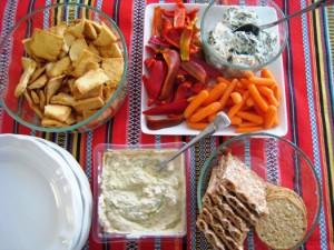 artichoke chile dip for super bowl party
