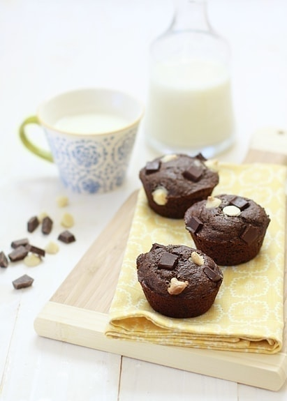 Triple Chocolate Banana Bread Muffins | Good Life Eats
