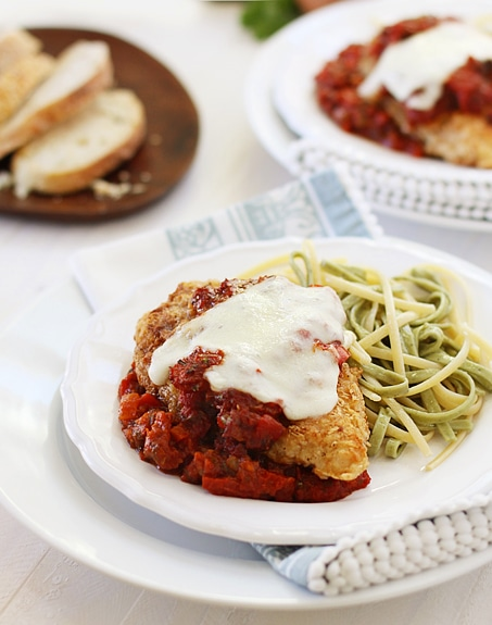 chicken parmesan with homemade tomato sauce