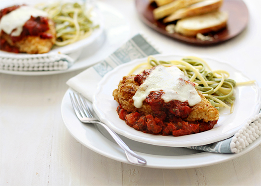 chicken parmesan with homemade sundried tomato sauce