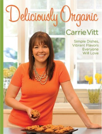 cover image delicously organic cookbook by carrie vitt