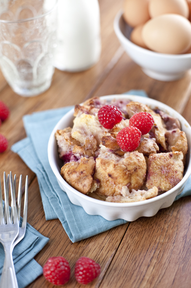 recipe for bread pudding with raspberries