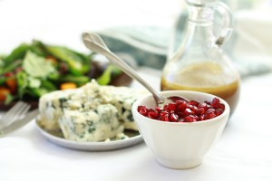 butternut squash, pomegranat and roquefort salad - deliciously organic cookbook