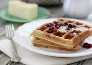 recipe makeover: healthier whole wheat flax waffles