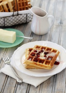 healthier whole wheat flax waffles