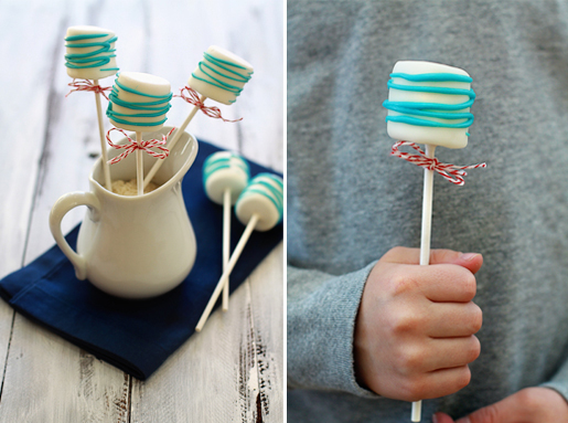 cat in the hat marshmallow pops