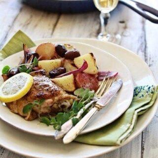 Greek-Style Chicken Skillet Dinner