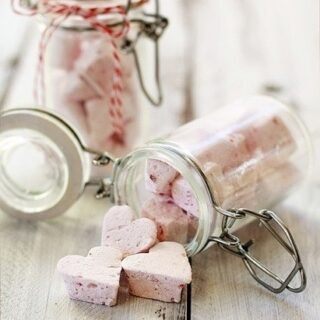 Raspberry Vanilla Bean Marshmallows