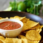 homemade restaurant style salsa for super bowl