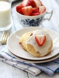 strawberry and lemon scone