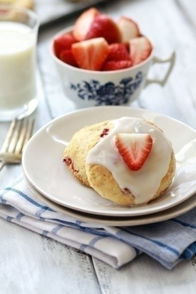 strawberry and lemon scone