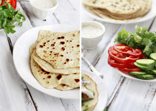 Whole Wheat Indian Naan: Grilled Tandoori Chicken Wrap: How to Make ...