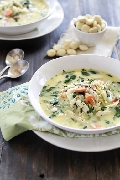 lemon chicken soup with spinach and orzo
