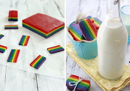 st. patrick's day rainbow cookies