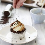 cupcakes with chocolate and almond butter