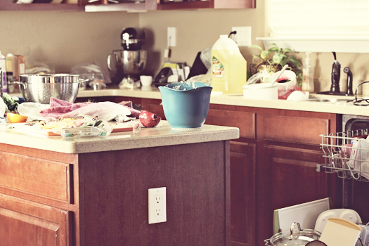 kitchen disaster mess