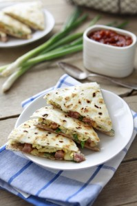 scrambled egg quesadilla
