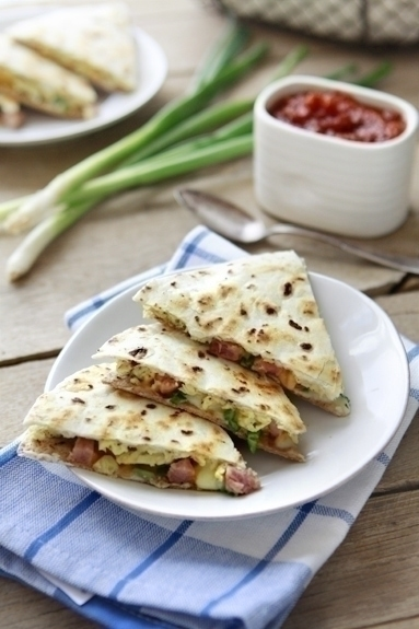 Breakfast Burrito Quesadilla | I started out making breakfast burritos, but then I realized melting the eggs with cheese in a crispy quesadilla was more my style!