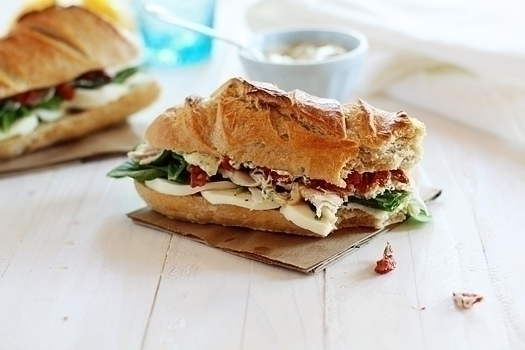 This Turkey with Artichoke and Sun Dried Tomato is a great way to get creative with your sandwiches!