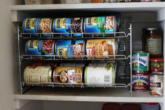 can rack pantry makeover
