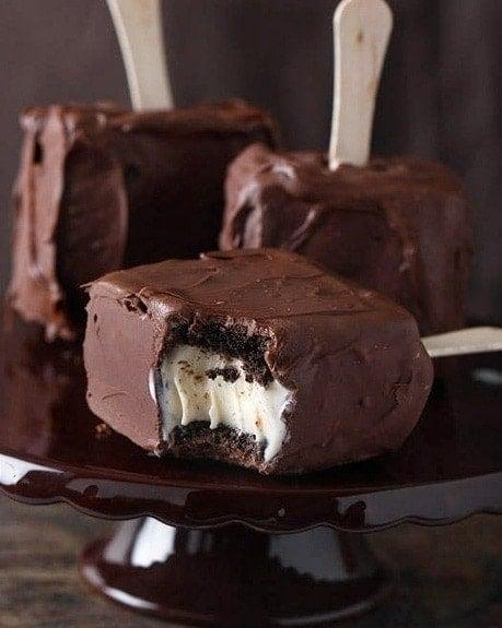 Chocolate Covered Ice Cream Sandwich