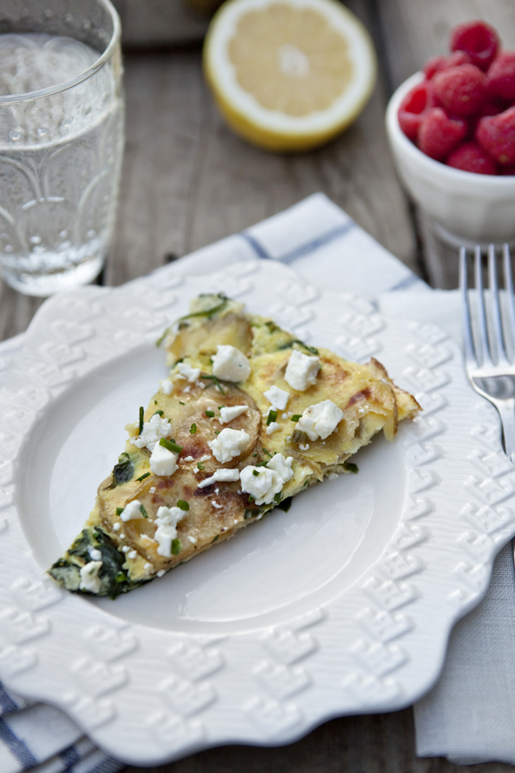 recipe for frittata with spinach and potato