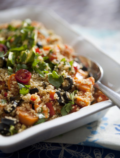 sweet potatoes and quinoa